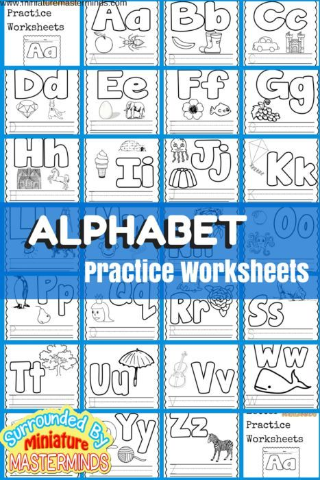 Basic Concept Alphabet Practice Worksheets Free Printables