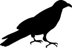 crow clipart image silhouette of a crow or raven in black rh pinterest com crown clip art black and white crow clip art images