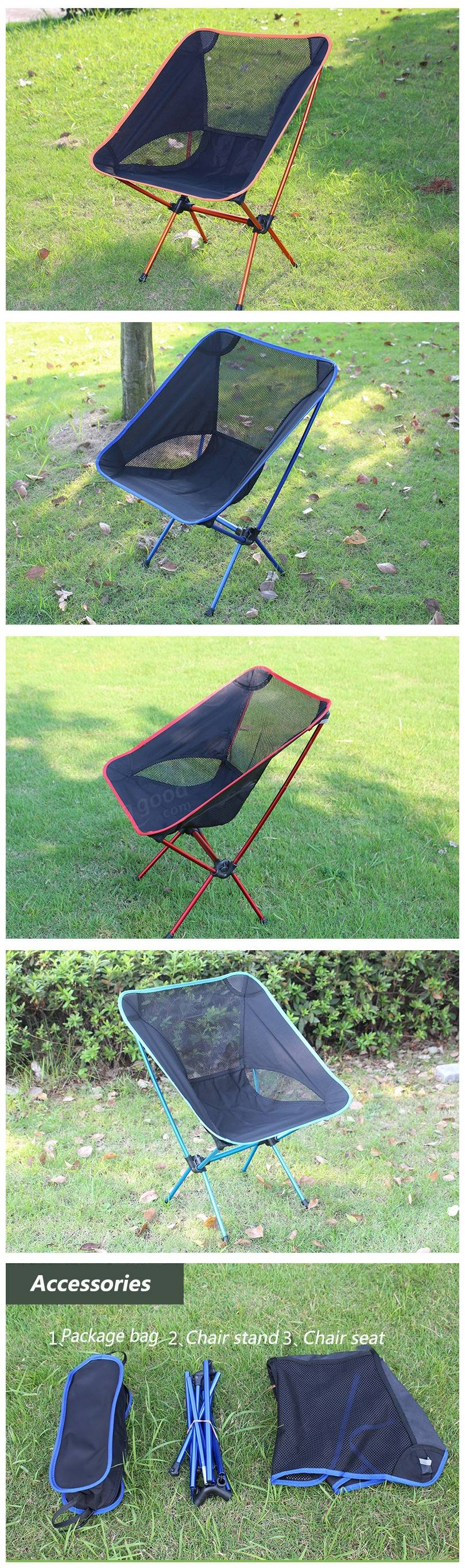 Outdoor Portable Folding Chair Camping Hiking Beach Seat Stool For