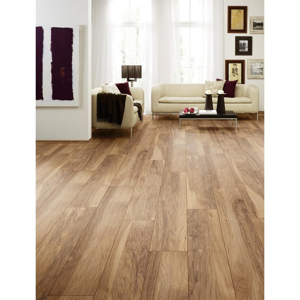 Home Decorators Collection Shefton Hickory 12mm Thick X 6 1 In Wide X 47 64 In Length Laminate F In 2020 Flooring Laminate Flooring Colors Home Decorators Collection