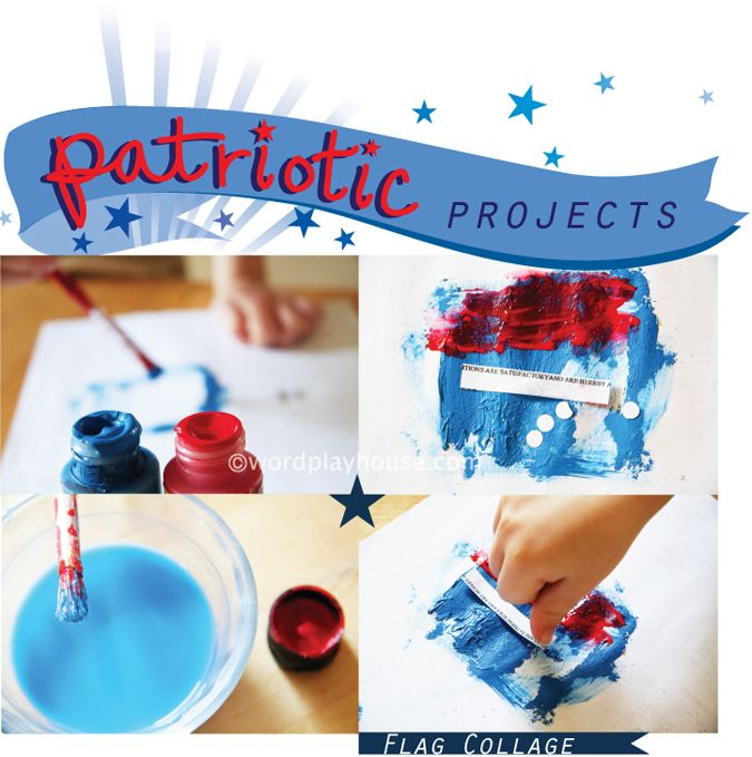 red + white + blue patriotic activities and children's art projects [July 4th Independence Day, Memorial Day, or Flag Day]