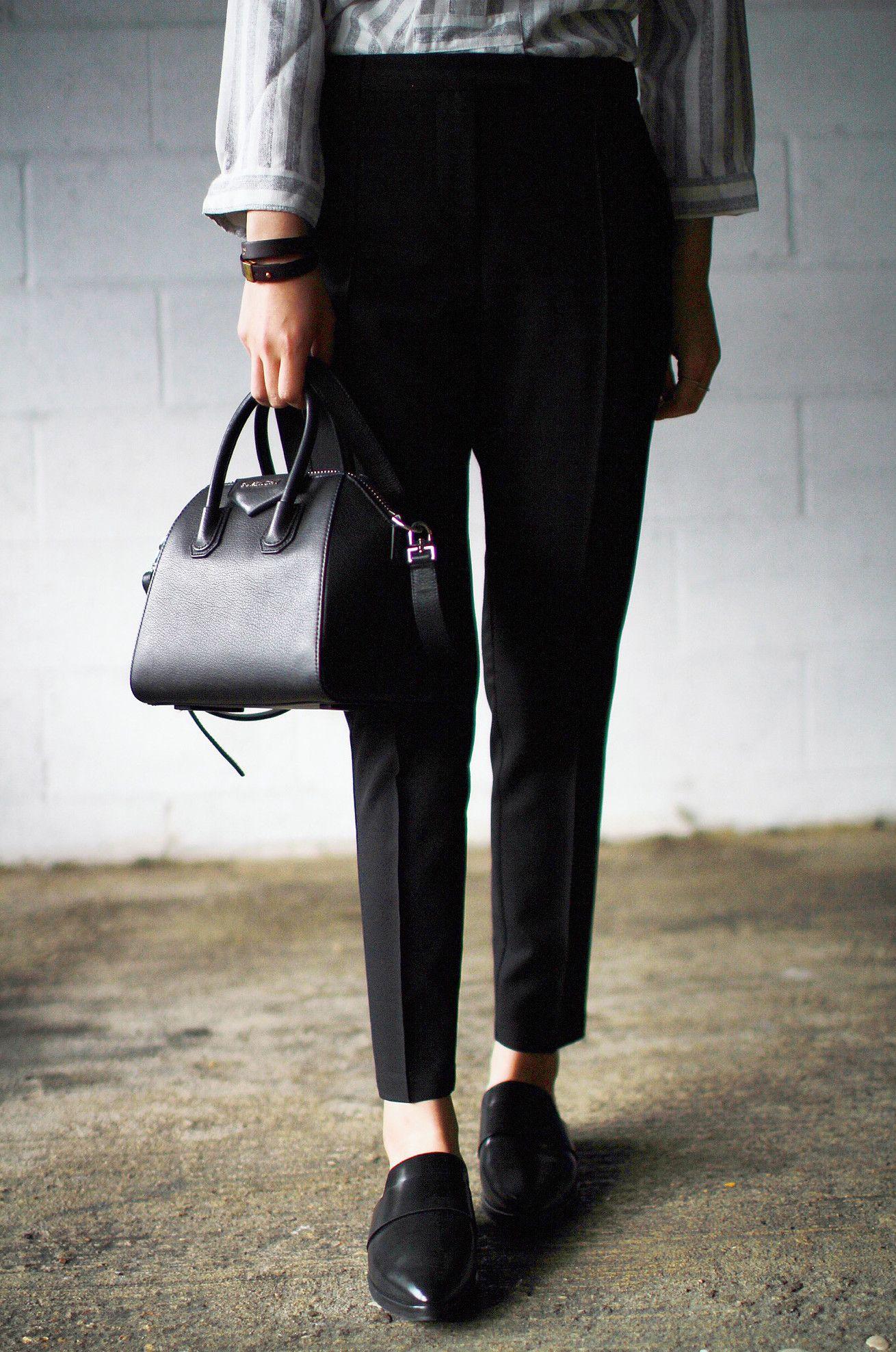 bde21559c1fa Top - Just Female Trousers - Topshop Shoes - Mango Bag - Givenchy Mini  Antigona Bracelet - Celine