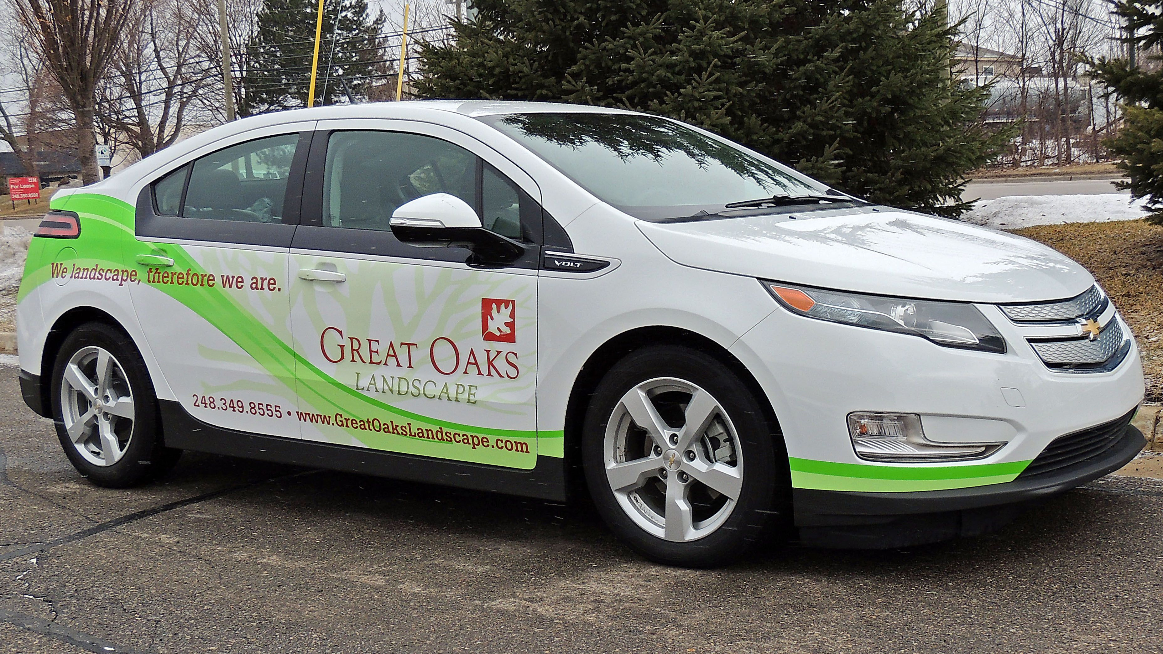 Chevy Volt Full Vehicle Wrap For Great Oaks Landscaping Call Us