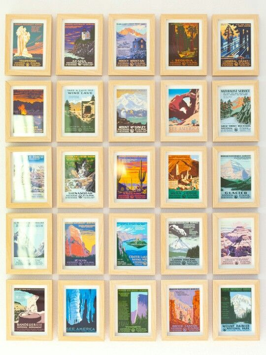 Vintage postcards of places we\'ve been as wall decor. | Decorating ...