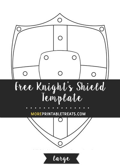Free Knights Shield Template Large Knight Shield Shield