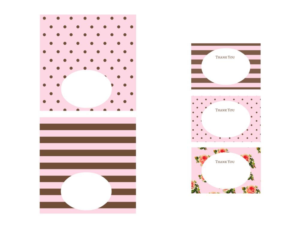 Free Pink Black Chocolate Baby Shower Printables
