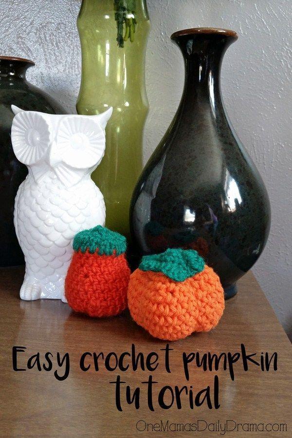 Easy crochet pumpkins tutorial for fall Crochet pumpkin