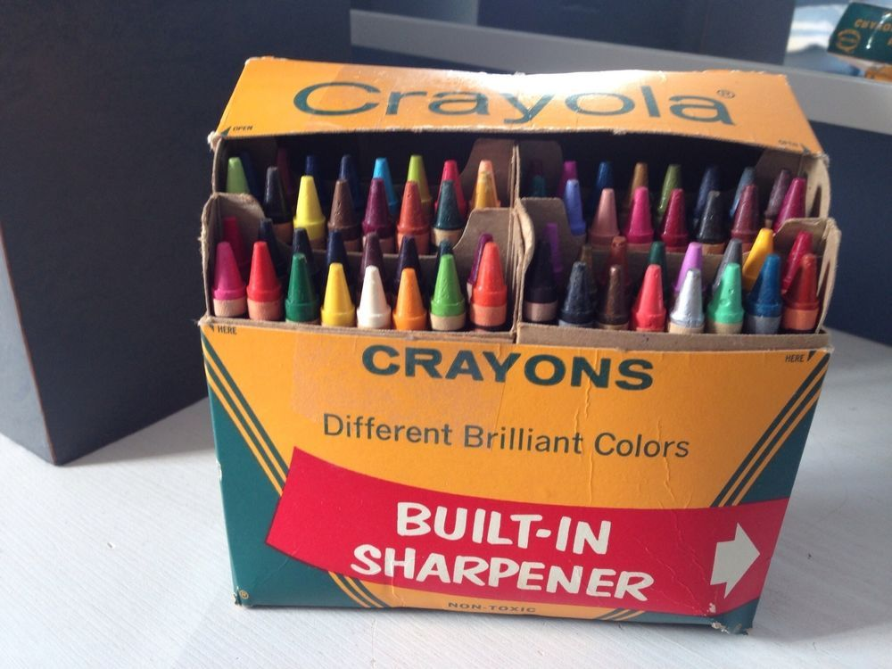 new vintage binney smith crayola crayons 64 colors retired color