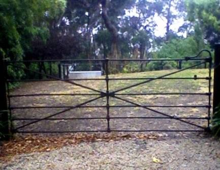 Image result for images of black wrought iron farm gates