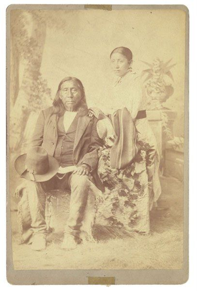 LITTLE RAVEN AND HIS DAUGHTER ANNIE , 1885