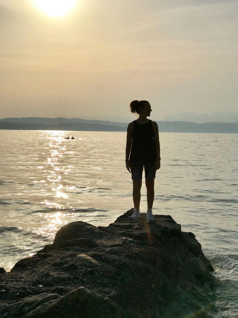 <3 #lago #tramonto #estate