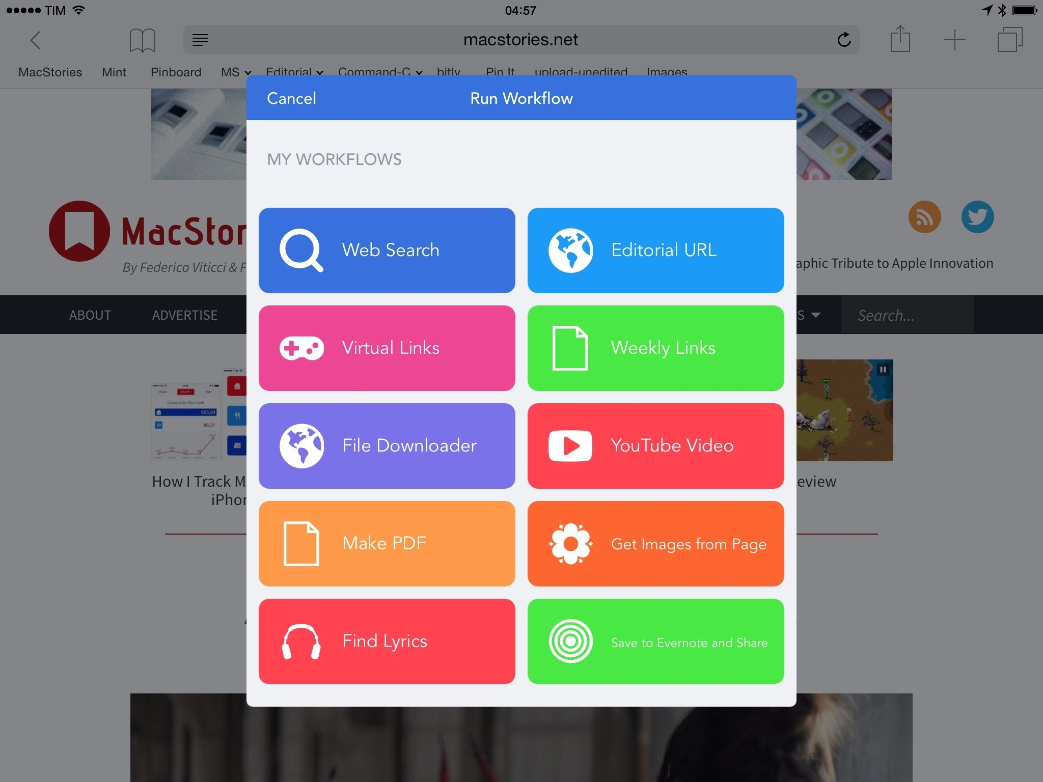 Workflow Review Integrated Automation for iOS 8