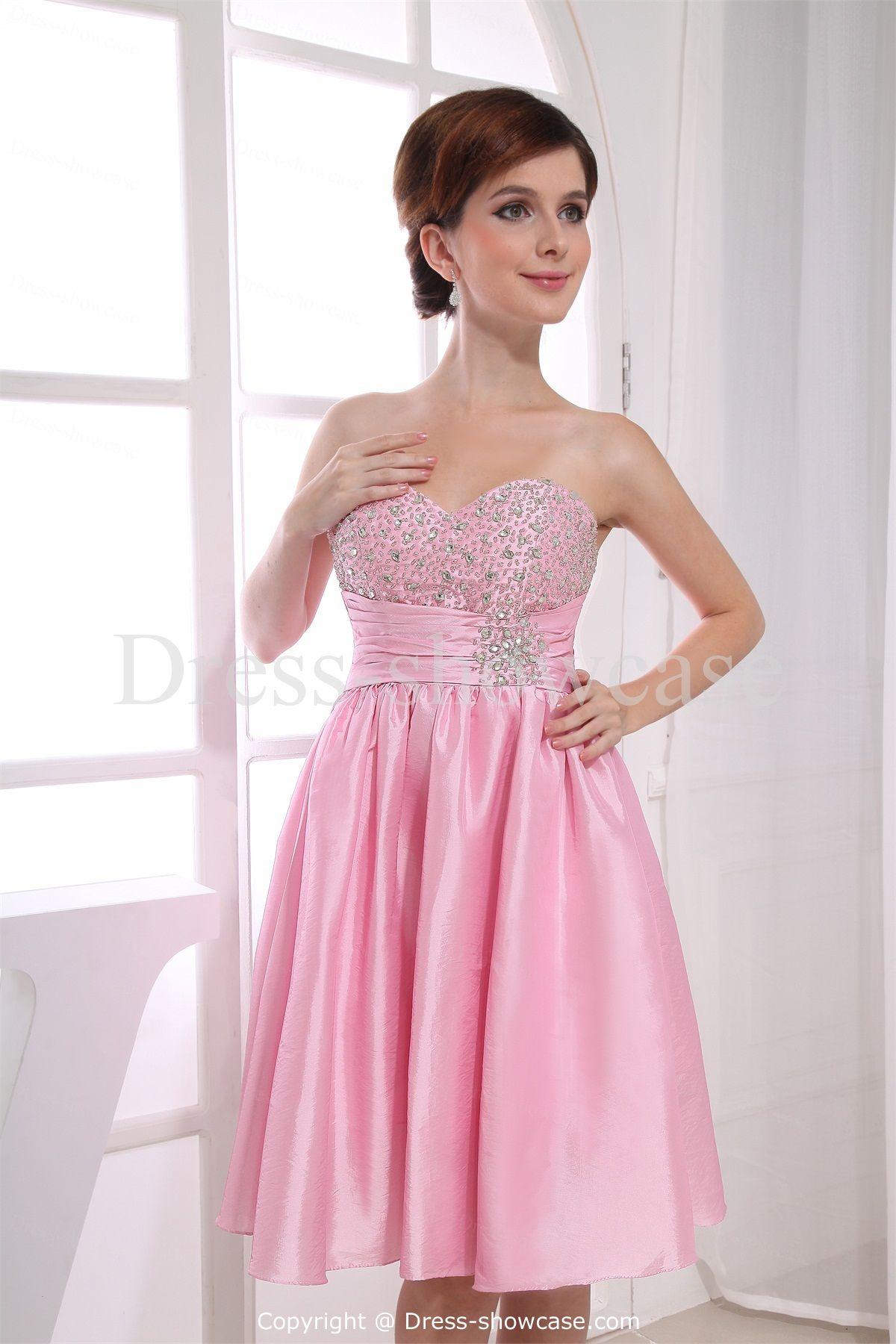 Pink Mini Taffeta Sweetheart Sweet 16 Dress | sweet16 outfits ...
