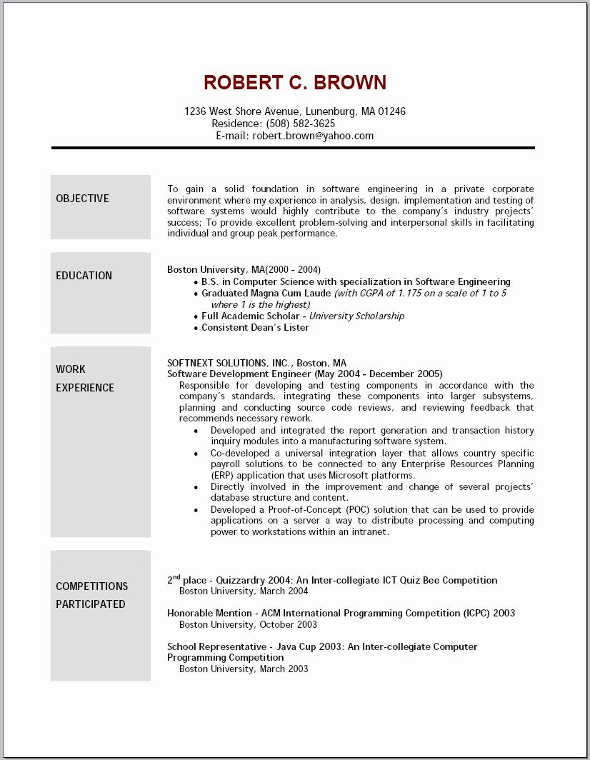Retail Resume Objective Examples Fresh 2016 Resume