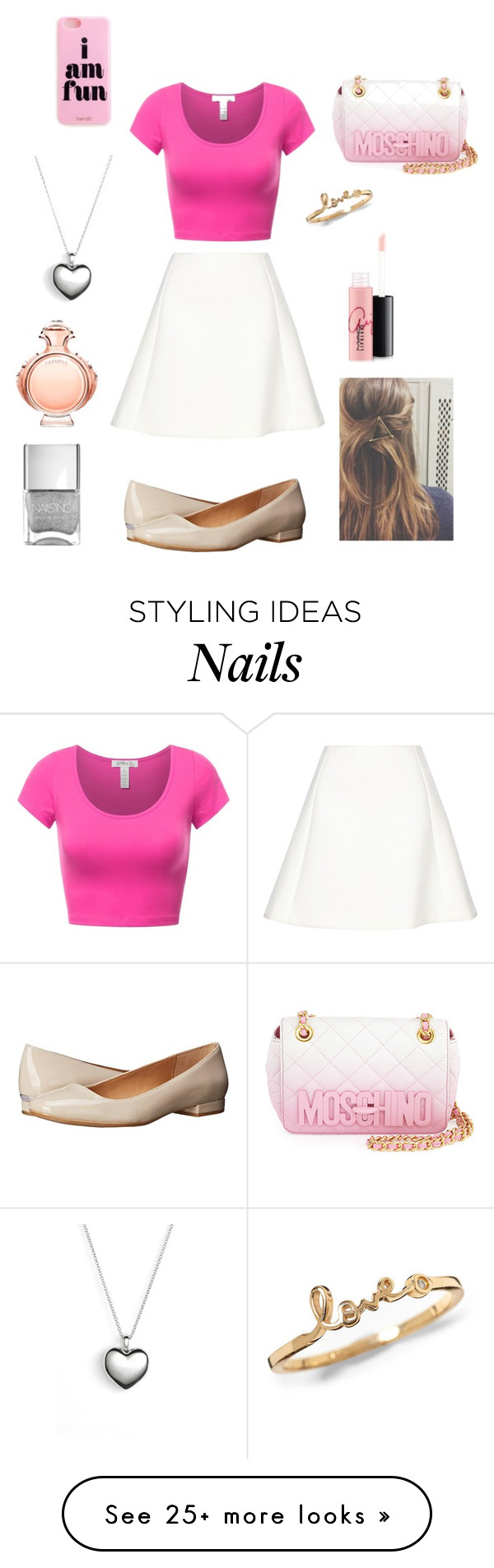 """Pink contest"" by sosfamforlife on Polyvore featuring Neil Barrett, Calvin Klein, Moschino, Pandora, Paco Rabanne, MAC Cosmetics, women's clothing, women, female and woman"
