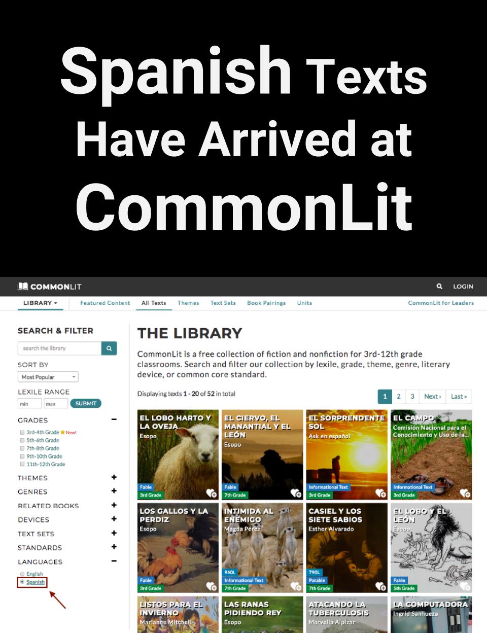 Spanish Texts Have Arrived Language Arts Pinterest Spanish