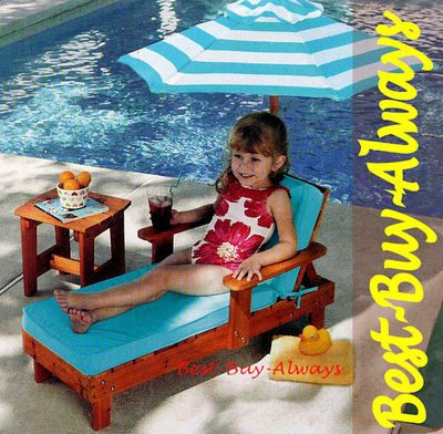 KidKraft Outdoor Table And Chair For Kids Small Patio Lounge Children  Furniture