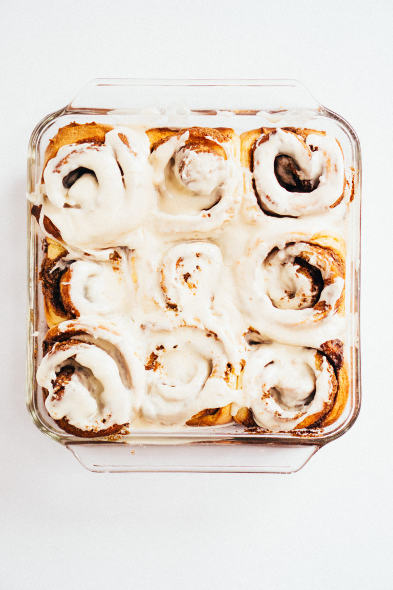 Overnight Cinnamon Rolls With Sweetened Condensed Milk Glaze Recipe In 2020 Overnight Cinnamon Rolls Cinnamon Rolls Sweetened Condensed Milk