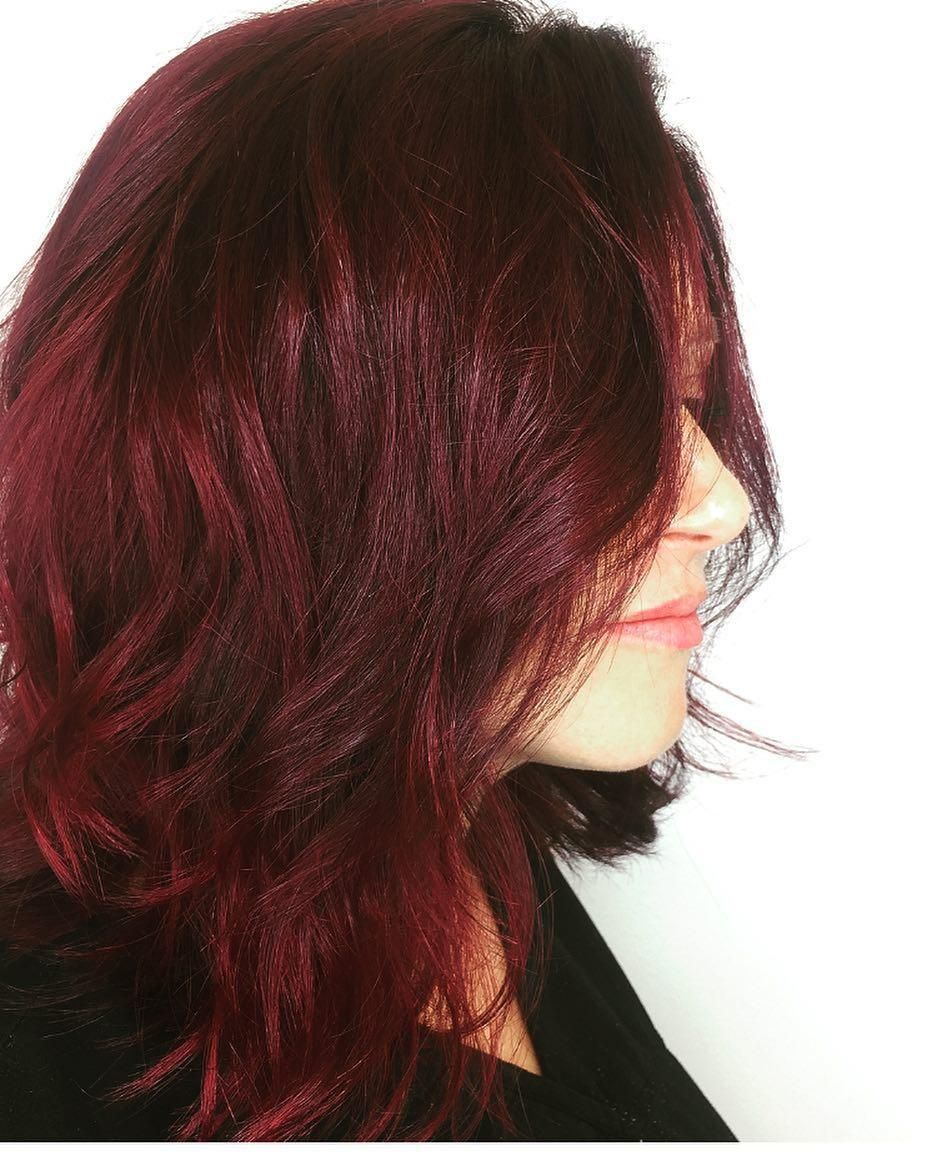 Dark Ruby Red Aveda Hair Color By Artist Laura Madonna