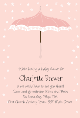 Free Online Baby Shower Invitations Templates Floral Umbrella Printable Invitation Templatecustomize Add Text .