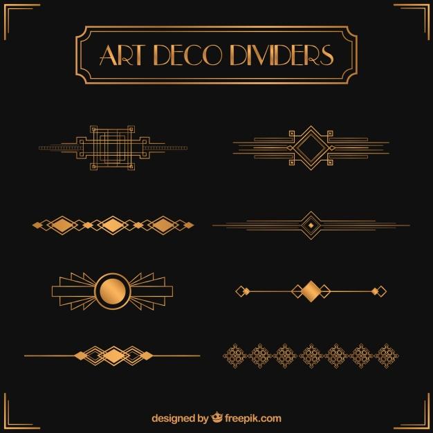 Dividers Collection In Art Deco Style Art Deco Fashion Art Deco Artwork Art Deco Logo