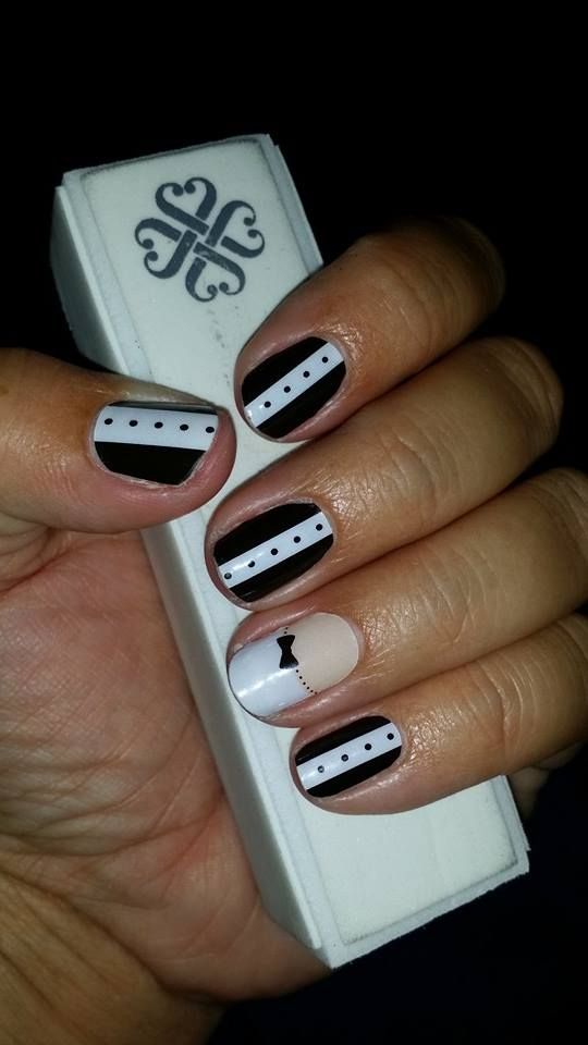 Black Tie Affair and French Tip bow Jamberry Nails http://fami ...