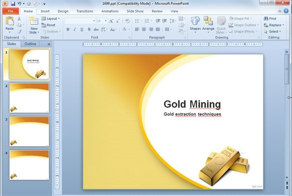 Gold mine extraction ppt template slide design new free powerpoint gold mine extraction ppt template slide design toneelgroepblik Gallery