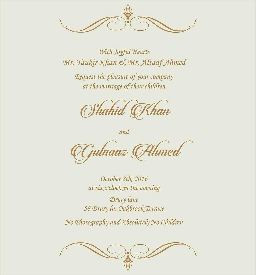 Muslim Wedding Invitations Wedding Invitation Wording For Muslim Wedding Ceremony Muslim Denchaihosp Com Wedding Card Wordings Muslim Wedding Ceremony Muslim Wedding Invitations