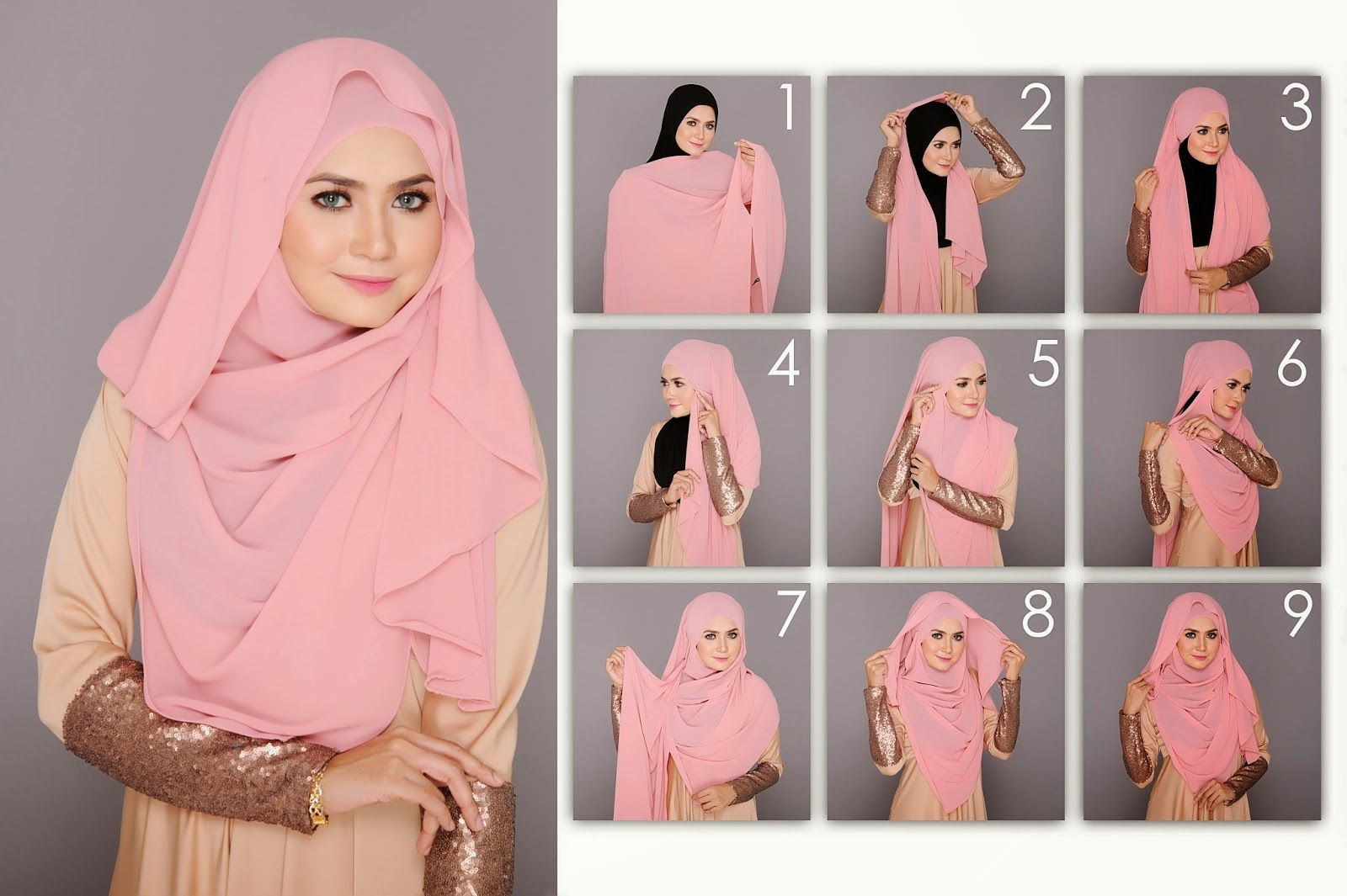 Shawl Labuh Tutorial Google Search Hijjab Tutorial Pinterest