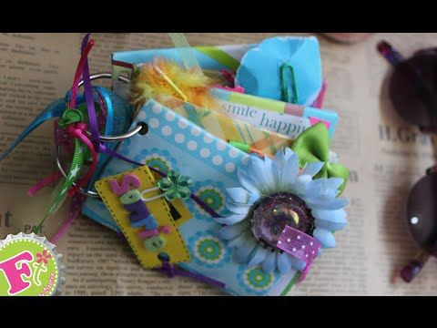 Mini Album con Tubos de papel higiénico! para San valentín! Pt 2/2 - YouTube