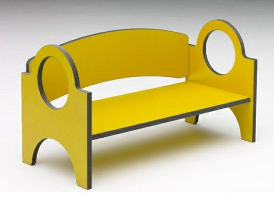 Can be used as a bench or shelf and is stackable.
