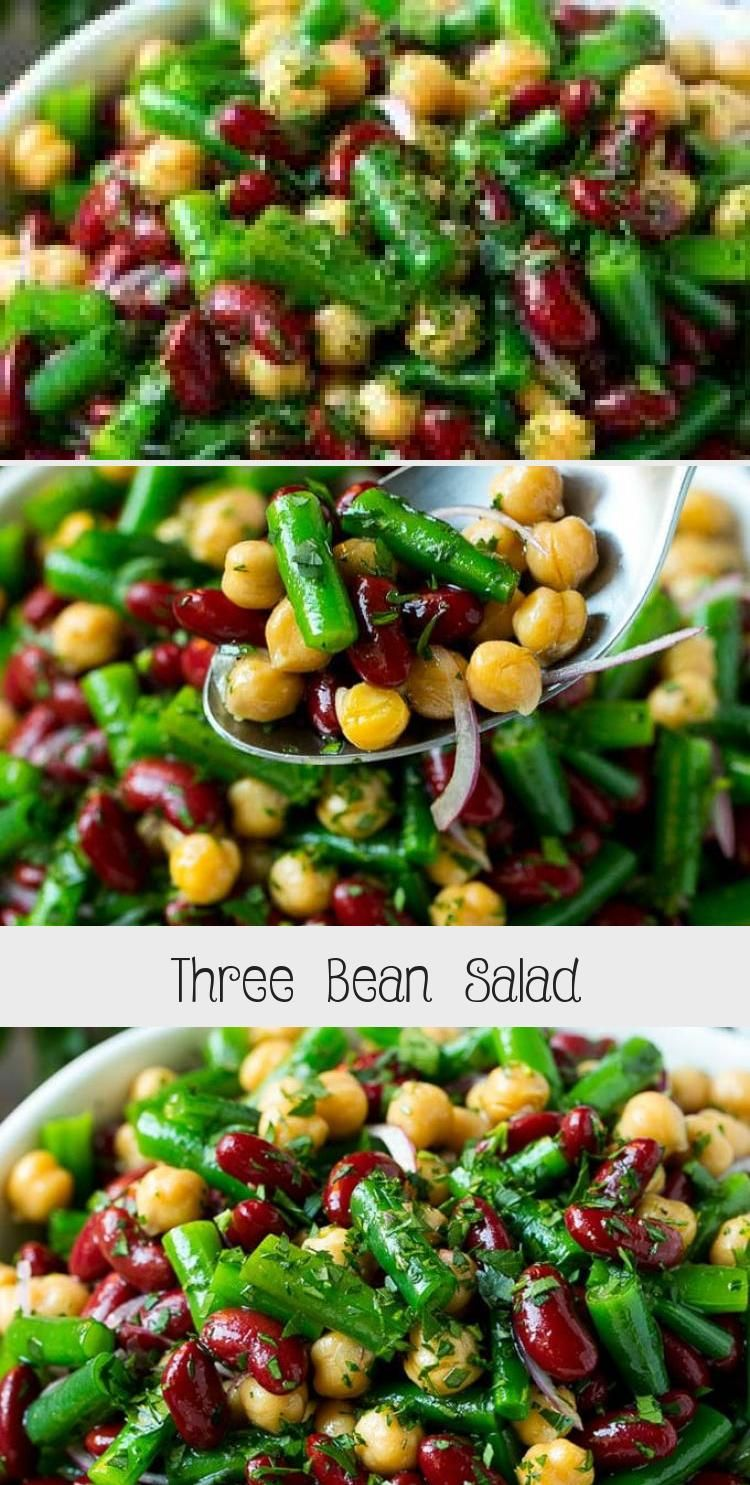 Three Bean Salad Recipe Bean Salad Green Bean Salad Chickpea Salad Salad Beans Vegetables In 2020 Bean Salad Recipes Three Bean Salad Summer Salads With Fruit