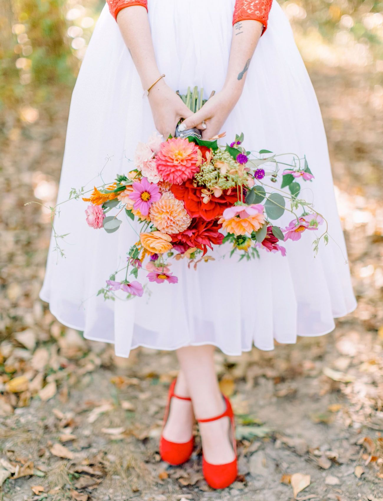 Intimate About Time Themed Wedding Starring A Vintage Red Lace