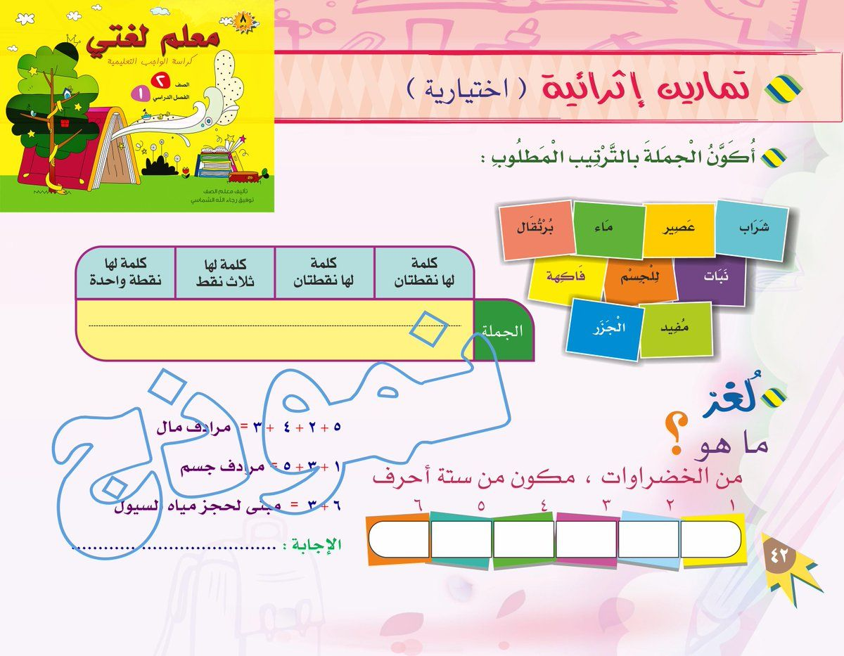 معلومات ونماذج معلم لغتي كراسة الواجب التعليمية صف ثان فصل أول توفيق الشماسي فريق تأليف مقررات اللغة العربية Education Map Map Screenshot