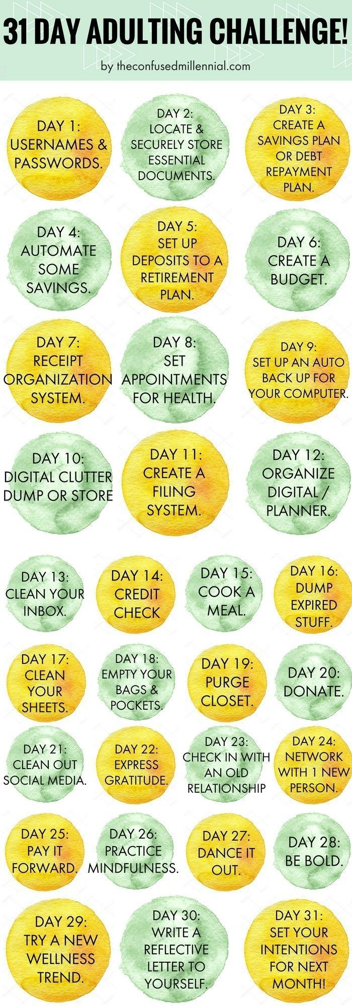 Guide To Adulting: 31 Day Adulting Challenge + Checklist