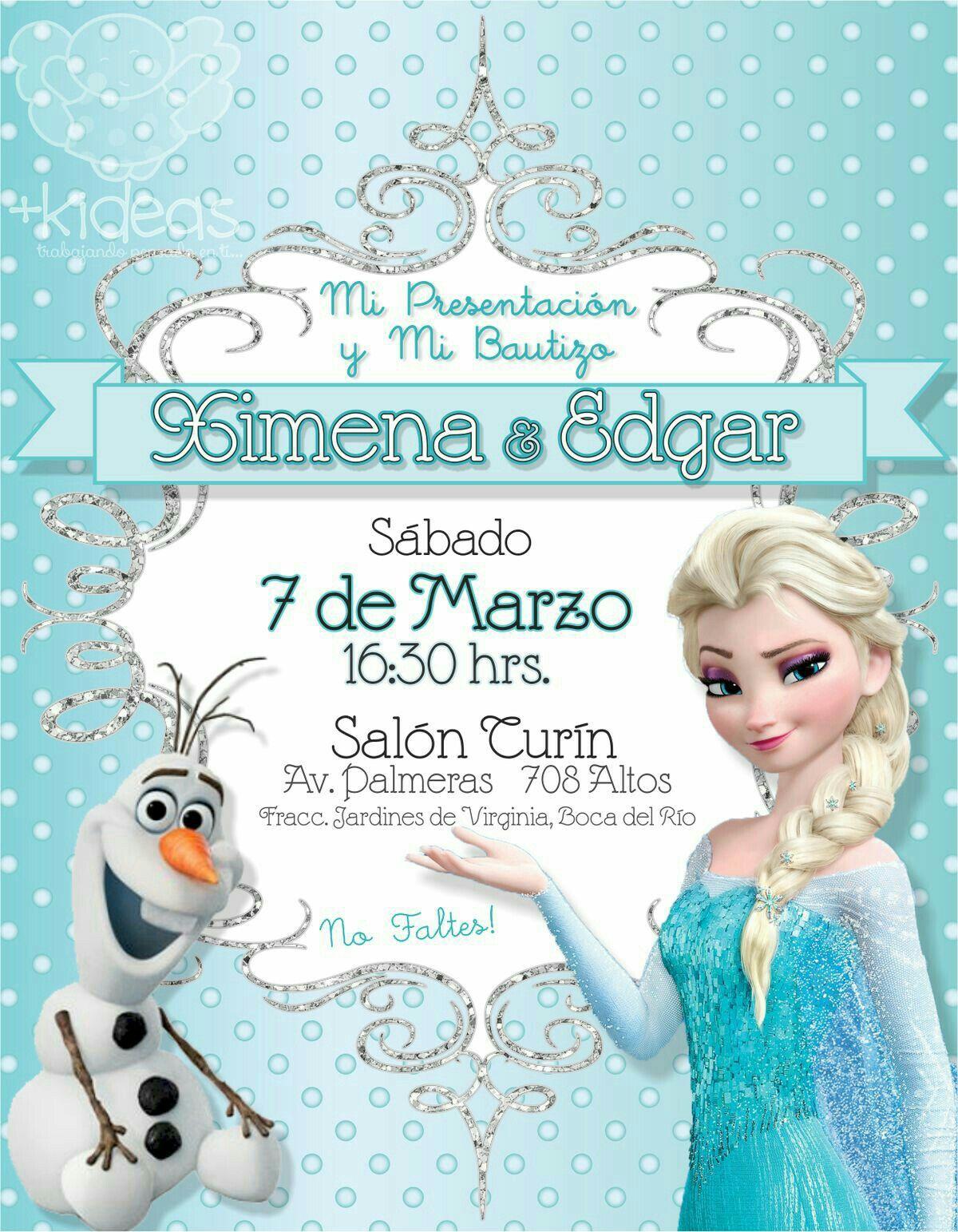 Invitacion Tarjetas De Cumpleaños Frozen Invitaciones
