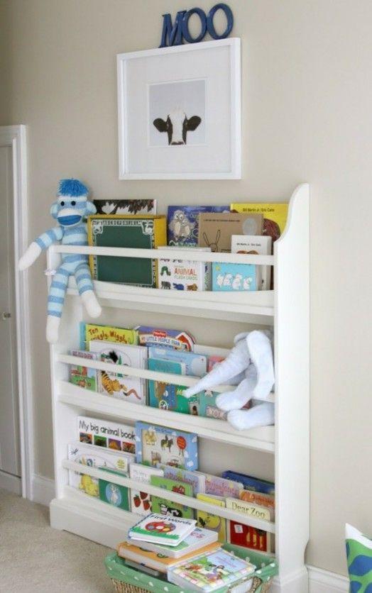 coole ideen f r die organisation von kinderb chereien regale im kinderzimmer zwergenstube. Black Bedroom Furniture Sets. Home Design Ideas