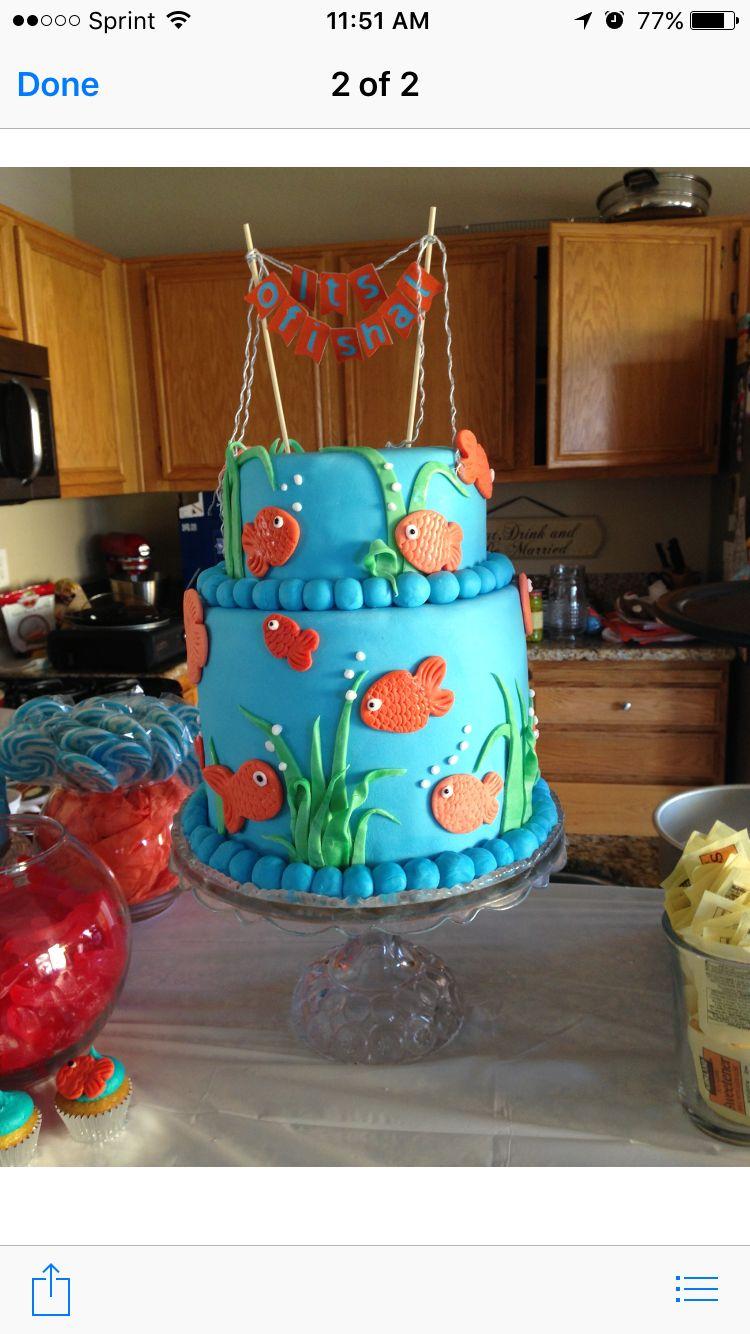 Ofishal cake with Cake topper Ofishal Party Pinterest Cake