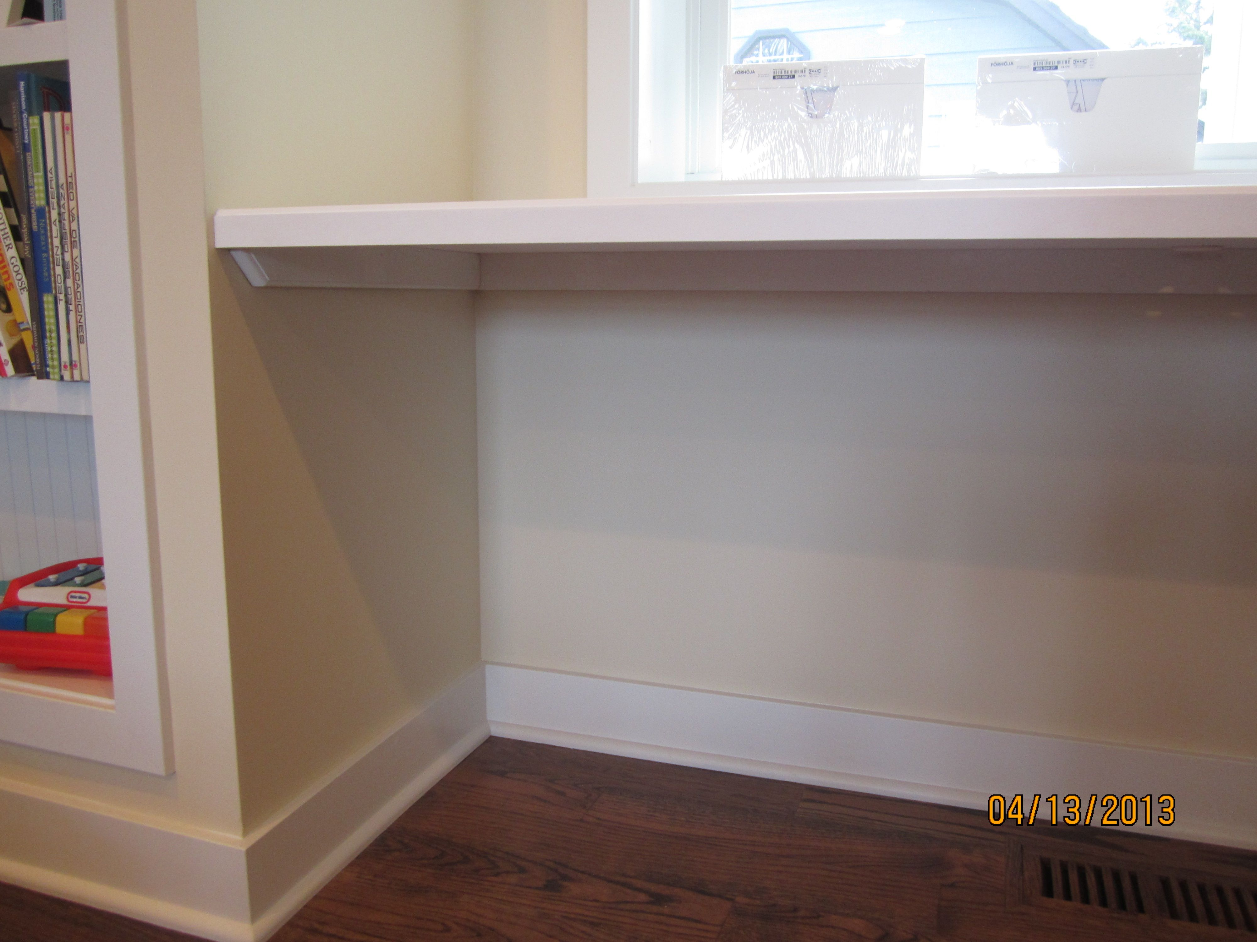 Desktop Built To Fit Laminated Formica Top To Match Existing Trim