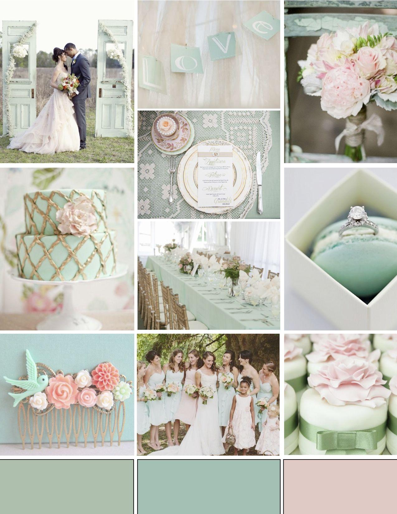 green wedding inspirations | Mint Green and Pink Wedding Inspiration ...