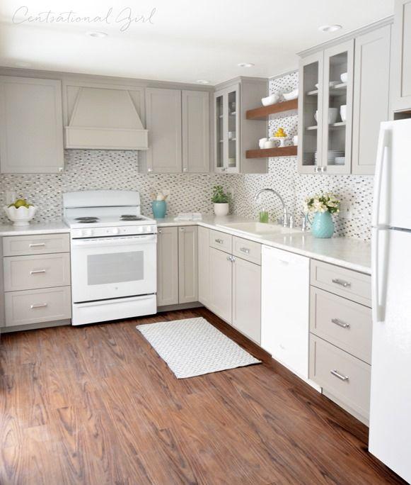 Gray White Kitchen Remodel Greige Kitchen Cabinets Greige
