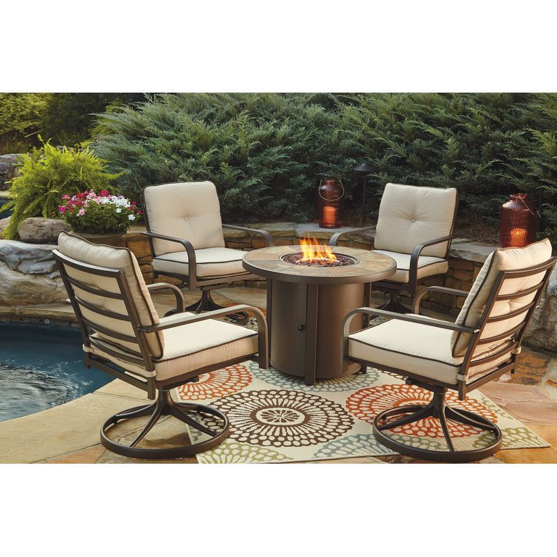 Swivel Patio Chairs And A Fire Pit For An Amazing Price At Phoenix
