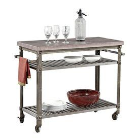 Shop Home Styles Urban Style Aged Metal Outdoor Serving Cart At Lowes Com Urban Style Kitchen Metal Kitchen Versatile Kitchen