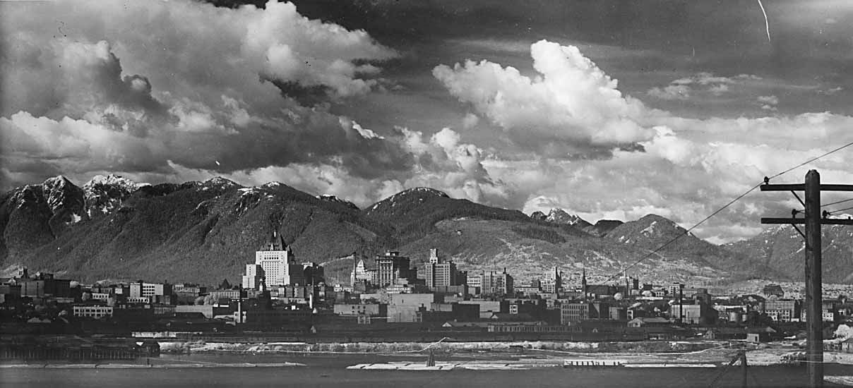 View of Vancouver from Fairview.  1932-1948.