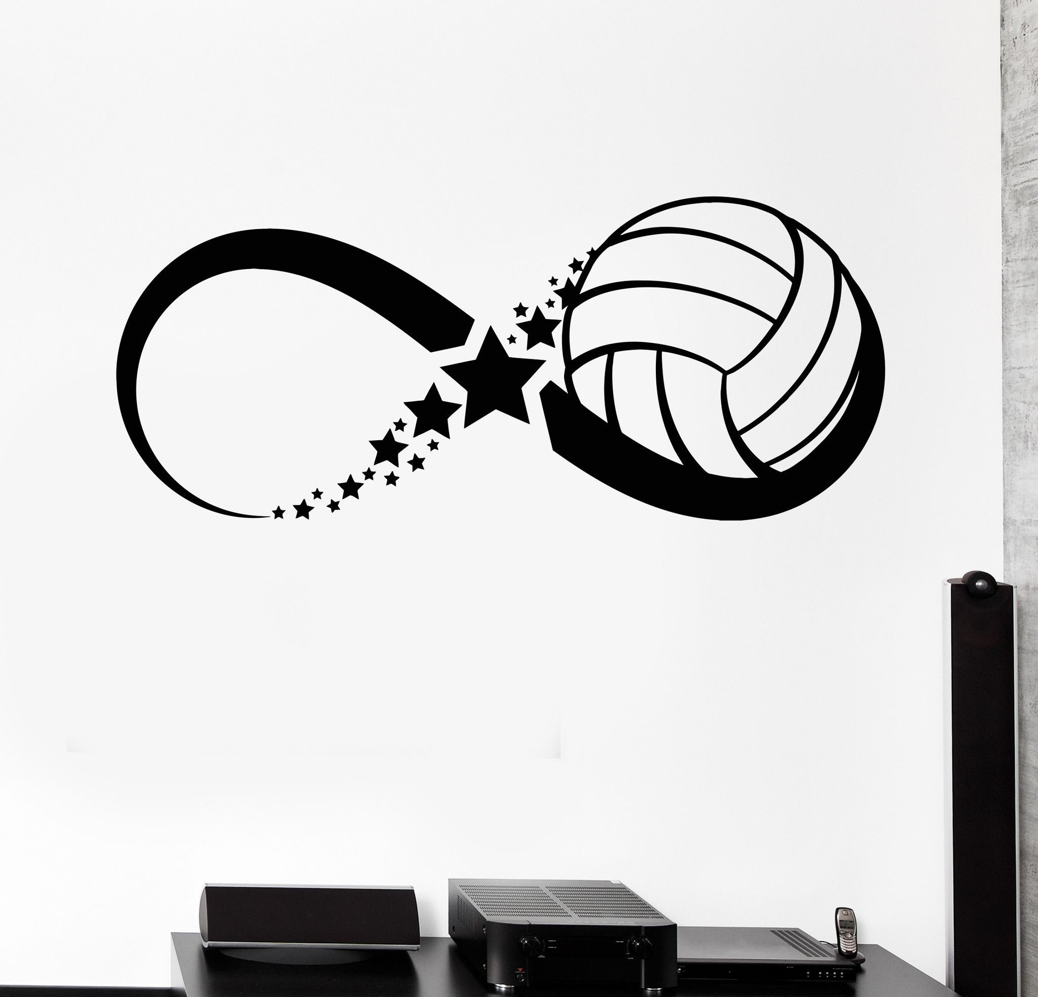Vinyl wall decal volleyball ball sport game infinity stickers unique vinyl wall decal volleyball ball sport game infinity stickers 385ig malvernweather Image collections