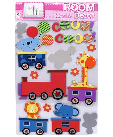 fab n funky room decor 3d stickers animals in railway online in