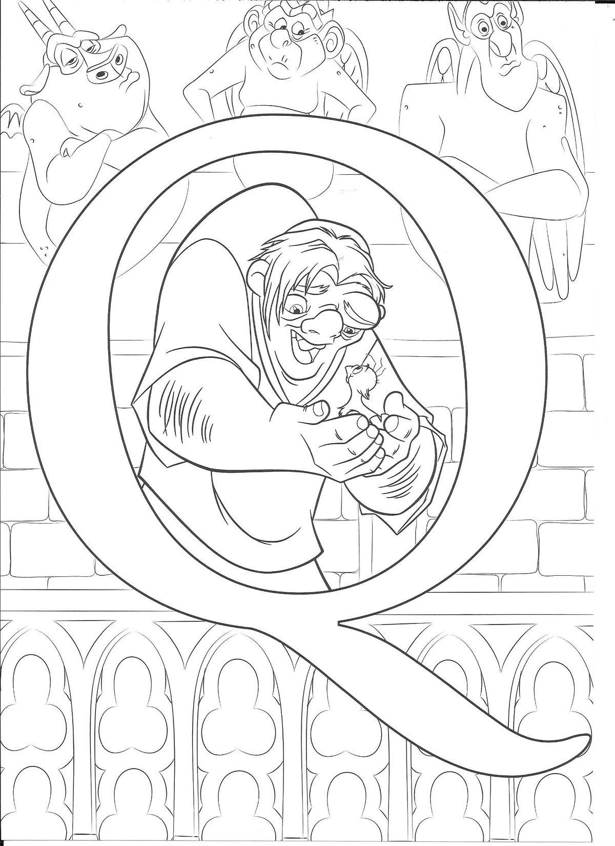 Disney Coloring Pages Pdf Alphabet on a budget