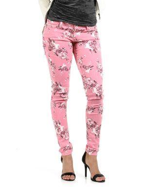 Pantalones con estampado de flores