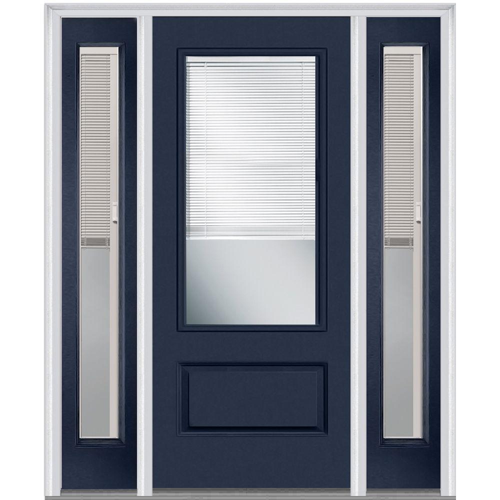 Shown Is An Internal Blinds 3/4 Lite 1 Panel Plastpro Fiberglass Smooth  Entry