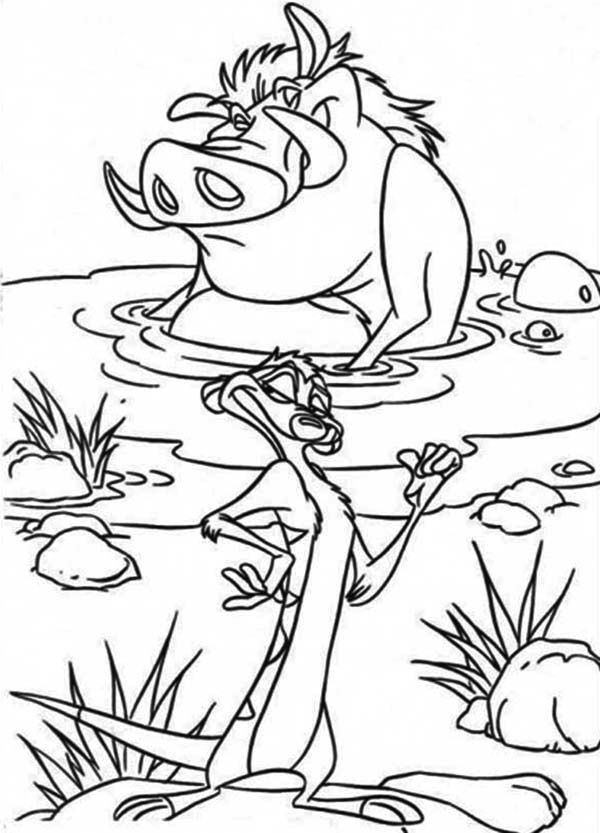 Lion King Coloring Pages Timon and Pumbaa | The Lion King coloring ...